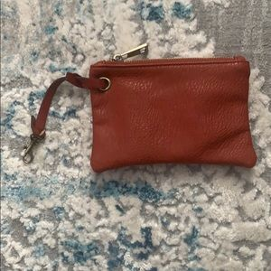 Free people Vegan Leather Zippered Pouch/ Wristlet